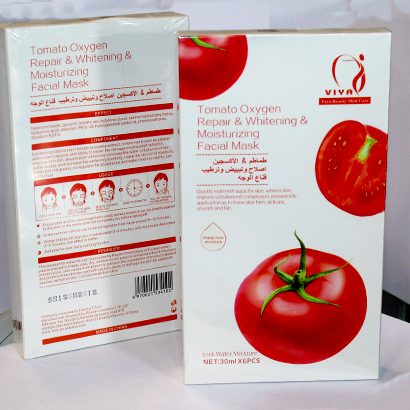 Tomato Oxygen Repair & Whitening & Moisturizing Facial Mask